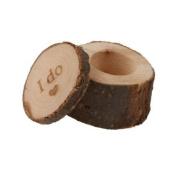 Wooden I Do Shabby Chic Rustic Wedding Ring Bearer Box