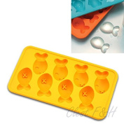 Clest F & H Novelty Cute Animal Silicone Ice cube moulds Chocolate Cake Candy Mould Tray,Random Colour