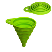 Home Optimal Collapsible High-quality Silicone Funnel. 8cm diameter. Ideal for the kitchen, DIY and camping