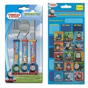 Childrens Thomas TNS Cutlery-Set & Rewards-Stickers-Gift-Age-3-4
