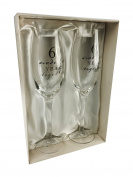 60th Diamond Wedding Anniversary Gift Pair Of Champagne Flutes Gift