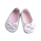 Beautiful White Bowknot Flats Shoes for American Girl Doll Clothes