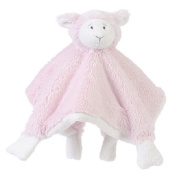Happy Horse Lammy Lamb Pink Plush Girl Animal Comfort Blanket with Rattle