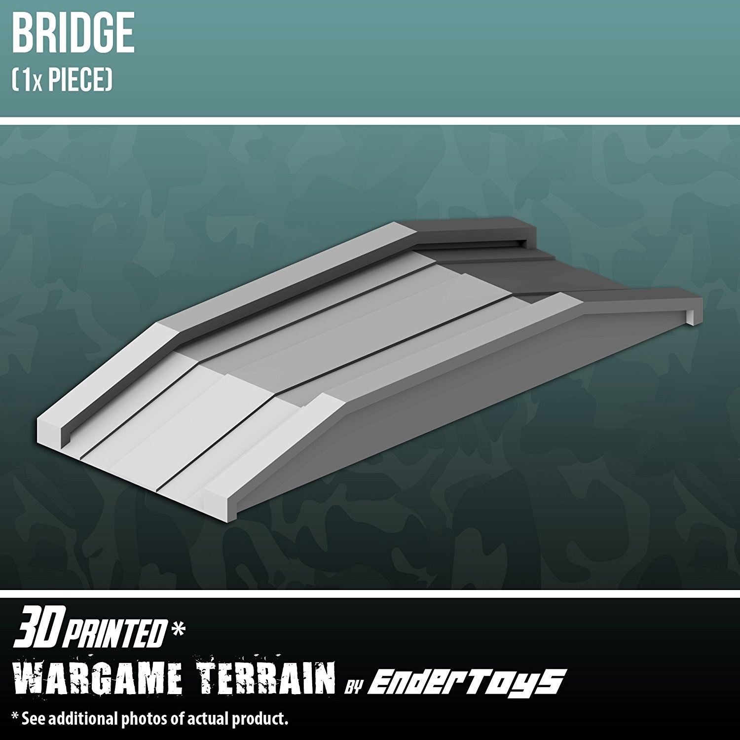 Bridge, Terrain Scenery for Tabletop 28mm Miniatures Wargame, 3D Printed  and Paintable, EnderToys
