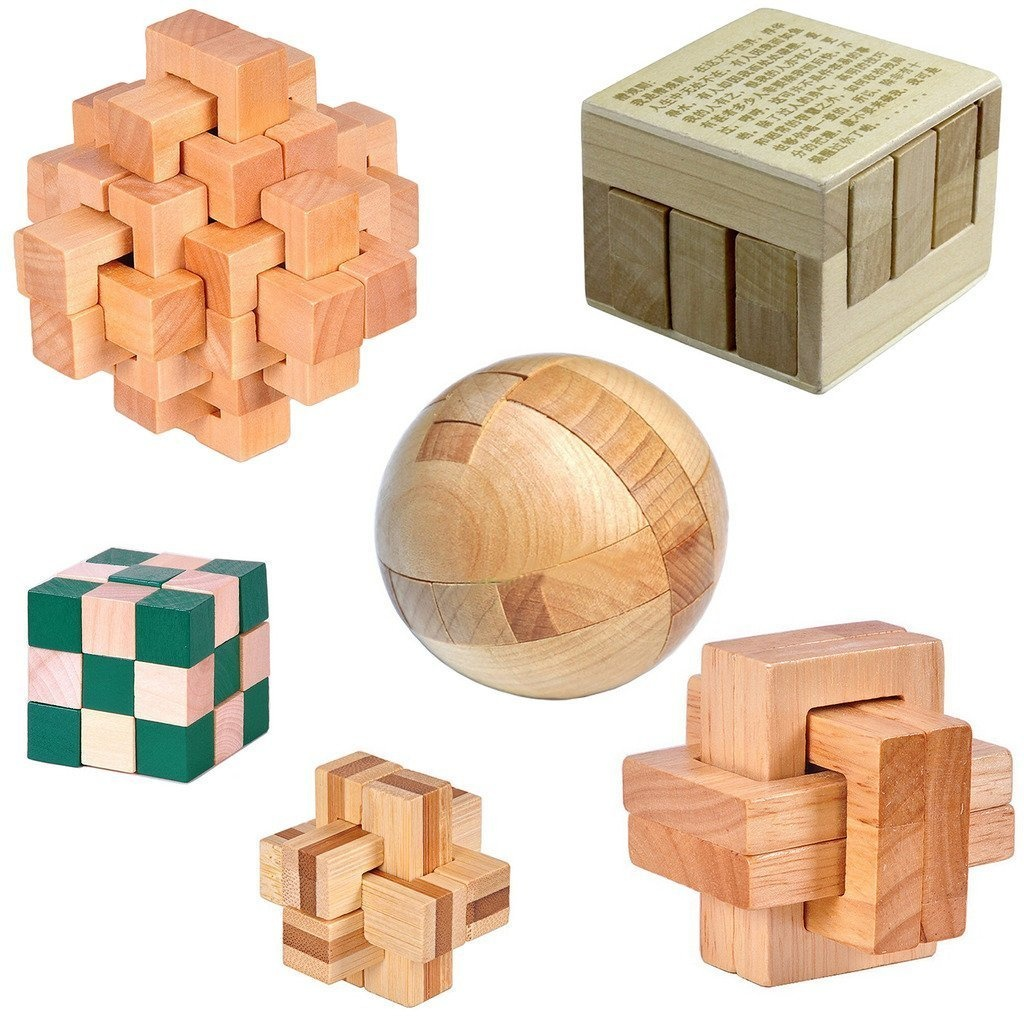 Kingou Iq Challenge Set Logic Wooden Puzzles High Difficulty Brain