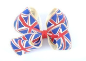 Style Nuvo Women's Girl's Red, White & Blue Union Jack Grosgrain Bow and Headband Hairband