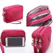 SZTARA Multifunction Three Layer Zipper Closure Insert Handbag Sport Portable Organiser Purse Cash Key Phone Bag