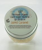 Bimble Organic Raw Cane Sugar Natural Lip Scrub 25g - Salted Caramel Flavour