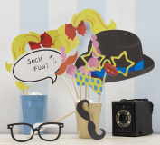 Wooden Photo Booth Props (10pk) - Great for a Wedding or Party