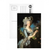 Marie Antoinette with a Rose, 1783 (oil on.. - Postcard (Pack of 8) - 15cm x 10cm - Art247 Highest Quality - Standard Size - Pack Of 8