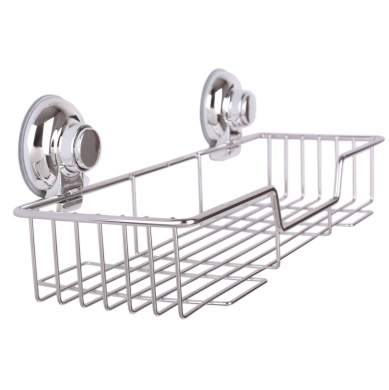 SANNO Shower Caddy with Super Strong Suction Cups Rustproof Bathroom Caddy Wall Shelves Kitchen Storage Basket Holder