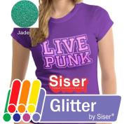 SISER GLITTER Heat Transfer Vinyl (Tshirt HTV) 50cm x 30cm - JADE