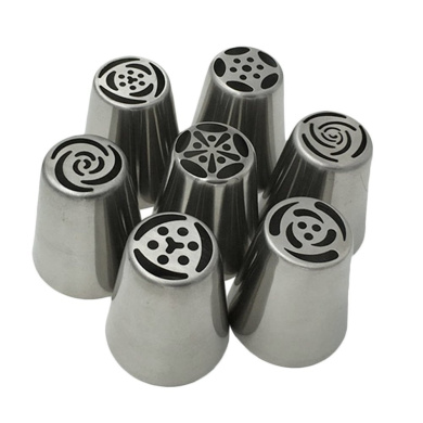 Hrph 7pcs Russian Tulip Icing Piping Nozzles Cake Decoration Decor Tips Cooking Tools