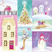 """Christmas napkins """"Pastel Winter"""" - 33 x 33cm - 3 ply - Pack of 20"""