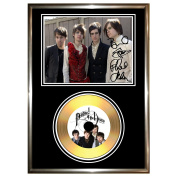 PANIC AT THE DISCO - SIGNED FRAMED GOLD VINYL RECORD CD & PHOTO DISPLAY