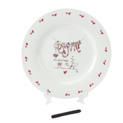 Tracey Russell Engagement Personalisable Plate & Pen Gift Set