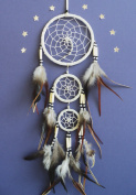 Dream catcher natural traditional bead detail Native american indian