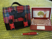 Our Generation Plaid To Meet You 18 Doll Accessory Clothing LAPTOP PLAID BAG PEN