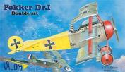 Valom 1/144 Fokker Dr.I Triplane (2 kits included) # 14407 - Plastic Model Kit