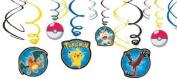 Pokemon Pikachu Birthday Decorating Swirls