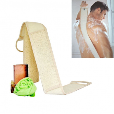 MakeupAcc Back Scrubber Exfoliating Loofah Natural Luffa for Shower