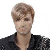 STfantasy 30cm Handsome Short Straight Blonde Men Wigs