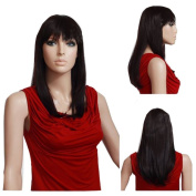 MELADY®(Free Cap) Fashion Casual Chestnut Colour Medium-Long Straight Synthetic Women Girls Lady Hair Replacement Wigs