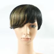 High Quality Cheap Ombre Gold Peruvian Short Bob Wigs Machine Made 20cm Straight Glueless Short Human Hair Party Wig For Women