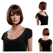 MELADY®(Free Cap) Fashion Casual BOB Brown Short Straight Synthetic Women Girls Lady Hair Replacement Wigs