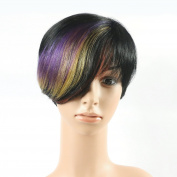 Cheap Ombre Peruvian Short Bob Wigs Machine Made 20cm Straight Glueless Short Human Hair Party Wig For Women