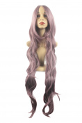 Xiaoyu Womens Natural 100cm Long Curly Hair Cosplay Wig Party Wig - Purple