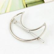 ANKKO 1pcs Fashion Hollow Moon Metal Barrette Hair Pins Hair Clip