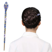 LiveZone LZ0730 Fashion Hair Decor Chinese Traditional Style Women Girls Hair Stick Hairpin Hair Making Headdress Accessory with Peacock Design ,Blue