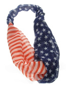 US Flag Stretch Headband - Red White & Blue