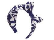 Gymboree Giraffe Print Headband - Navy/White