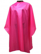 WM BEAUTY Professional Hair Salon Cape with Snap Closure-Pink