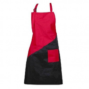 Salon Hair Cutting Apron Cloth Styling Tool Hairdresser Waterproof Cape Hair Styling Barber Cape Gown Cloth(Red+Black)