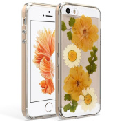 For Iphone SE, TOOPOOT Flower Specimens TTPU Rubber Case for iPhone SE 5 5S