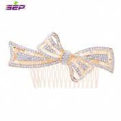 SEP Gold Rhinestone Crystals Bowknot Hairpins Women Hair Combs Bridal Wedding Hair Jewellery Accessories FA5050GOL