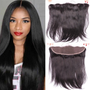 Sunwell Ear to Ear Full Lace Frontal Closure Silky Straight 33cm x 10cm Bleached Knots with Baby Hair In Front Virgin Brazilian Human Hair Lace Frontal Closure, Natural Colour, 30cm