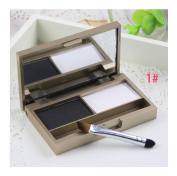 Fullkang Eyebrow Powder Eye Brow Palette Cosmetic Makeup Shading Kit With Brush Mirror
