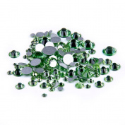 Nizi Jewellery Peridot Colour Rhinestones For Nails Mixed Sizes About 1000pcs