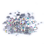 Nizi Jewellery Crystal AB Colour Rhinestones For Nails Mixed Sizes About 1000pcs