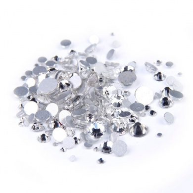 Nizi Jewellery Clear Rhinestones For Nails Mixed Sizes About 1000pcs