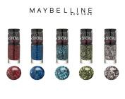 (5x Colours) Maybelline New York Colour Show Street Art Top Coat, 5ml, 5 Colour Collection Set