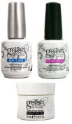 Gelish Gel Nail Polish Accessories 3 Pack - Top It Off, Foundation, Structure