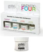 Gelish Fantastic Four LED UV Gel Nail Polish Essentials Kit + Structure Bottle