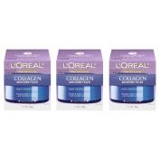 L'Oreal Paris Skin Care Collagen Moisture Filler Day/Night Cream, 1.7 Fluid Ounce, Pack of 3