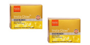 2 x VLCC Insta Glow Gold Bleach With Gold Oxide - Glowing, Radiant Fairness - 30g