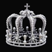 Stuffwholesale Stunning Women Girl Crown Tiaras Prom Pageant Rhinestone Headwear with Bobby Pins
